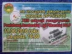 Zakończenie sezonu Powiatowej Amatorskiej Ligi Piłkarskiej.
